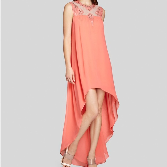 BCBGMaxAzria Dresses   Bcbg Max Azria Gown Embellished Neckline ...